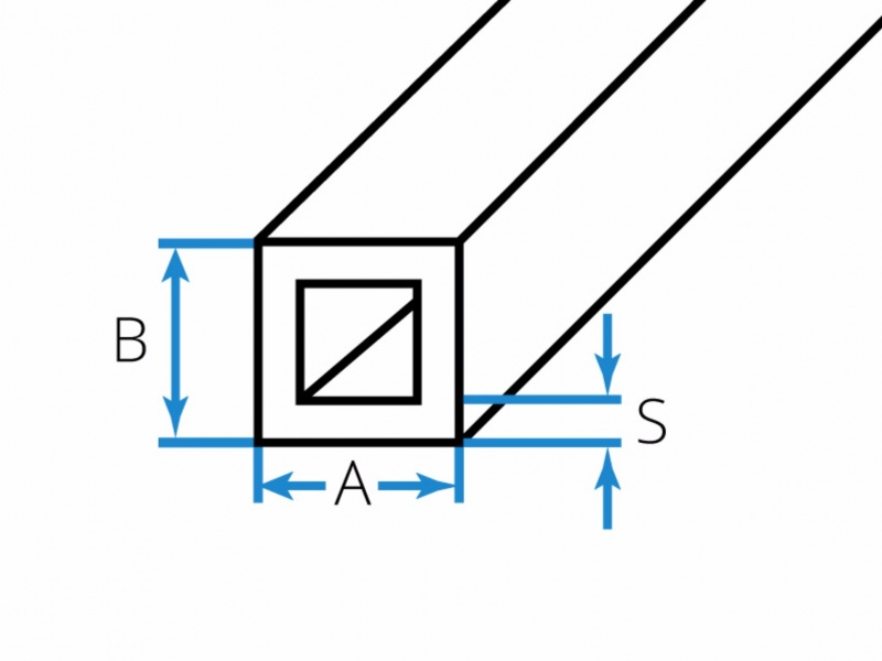 Aluminum tubes square