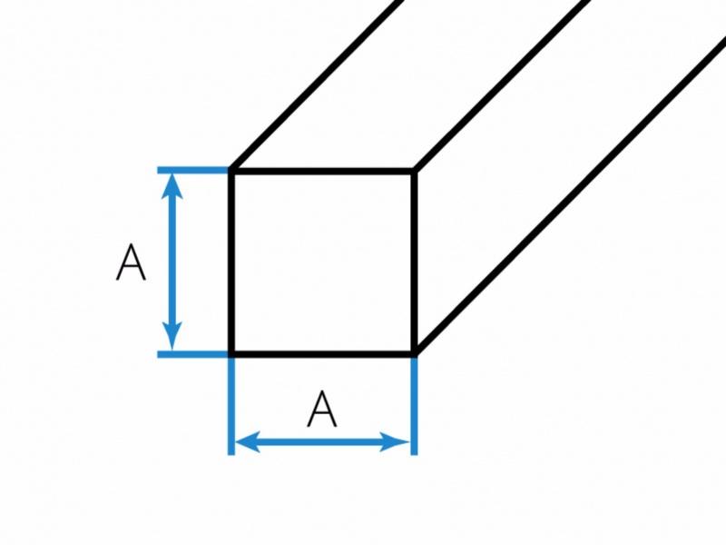 Bronzestangen Quadrat